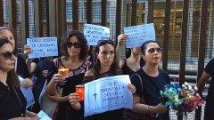 Napoli, docenti in protesta contro i trasferimenti al Nord davanti alla sede Rai