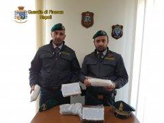 Guardia di Finanza di Napoli. Cocaina sequestrata a Giugliano in Campania