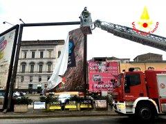 Vigili del Fuoco - intervento piazza Duomo