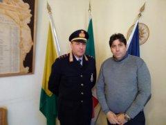 Airola. Il sindaco Michele Napoletano con il capitano Serafino Mauriello, comandante della Polizia Municipale
