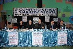 Incontro del presidente della Provincia Claudio Ricci con il Comitato Viabilita' Negata a Montefiascone Valfortore