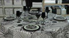 Idee per la tavola del cenone di Capodanno: look in bianco e nero