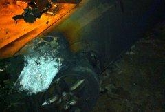 Auto in fiamme - Montesarchio