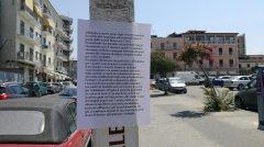 il volantino apparso a Benevento