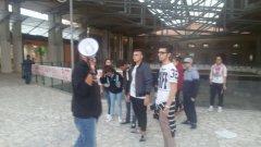 La protesta degli studenti al Malies
