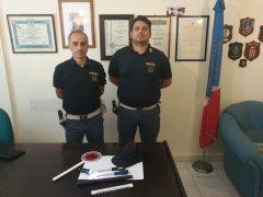 Polizia - Gli agenti del Commissariato di Telese Terme che hanno arrestato 2 rumeni