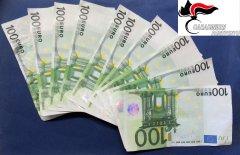 Banconote false, nel taglio da 100 euro, sequestrate dai Carabinieri