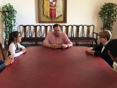 Incontro Mastella - Studenti (foto di archivio)