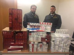Sigarette di contrabbando sequestrate dalla Guardia di Finanza di Capua