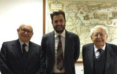 Luigi Giampaolino, Flavian Basile e Giuseppe Zamberletti