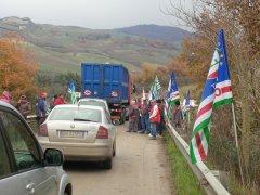 La protesta dei forestali