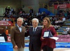Gran prix premiazione Cristiana D'anna con presidente Agabio e Scotton