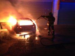 Auto in fiamme - Vitulano