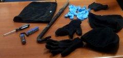 Attrezzi atti allo scasso sequestrati dai Carabinieri