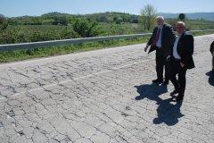 Sopralluogo del presidente della Provincia di Benevento, Claudio Ricci, sulla Fondo Valle Isclero