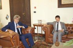 Francesco Maria Rubano, vice presidente della Provincia, e Francesco Antonio Cappetta, prefetto di Benevento
