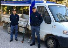 Furgone rinvenuto a Puglianello