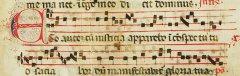 Frammento di codice liturgico in Scrittura Beneventana (Archivio di Stato di Benevento)