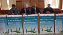 Lucio Lonardo, Fausto Pepe, Enrico Castiello e Billy Nuzzolillo durante la presentazione di stamane a Palazzo Mosti
