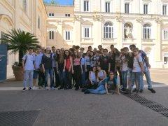 Studenti del Liceo Rummo di Benevento durante le visite di istruzione promosse dalla Regione Campania
