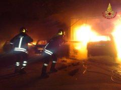 Incendio. Intervento dei Vigili del Fuoco (foto di archivio)