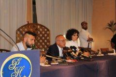 Vigorito in conferenza stampa