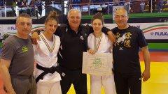 Le judoke Annarita Campese e Martina Scisciola del team Olimpic Center Judo