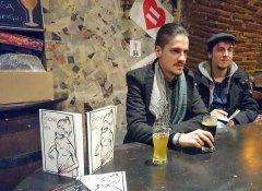 Gianluca Servino durante la presentazione a Benevento del suo romanzo: La Visione di Ben