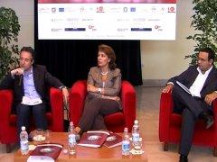 La conferenza di presentazione di 'Quattro Notti' 2008: da sinistra Fausto Pepe, Sandra Lonardo ed Elio Mastella
