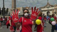 Roma. Protestano i lavoratori dei Parchi a tema