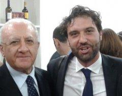 Il presidente della Regione Campania  Vincenzo De Luca con il consigliere regionale Erasmo Mortaruolo
