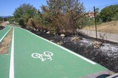 Benevento. Incendio alla pista ciclabile di Pezzapiana