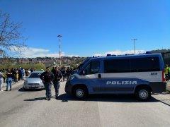 Benevento. Apparato di sicurezza presso lo Stadio Ciro Vigorito