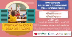 sit - in per la professoressa Dell'Aria