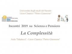 Liceo Giannone e Unisannio - conferenza dibattito Scienza e pensiero