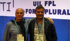 Da sinistra, Antonio Pagliuca, segretario responsabile della Uil Fpl e Fioravante Bosco, segretario generale aggiunto della Uil Av/Bn