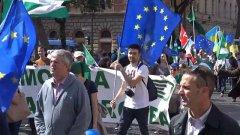 Trattati di Roma, politici in piazza: Costruiamo un'Europa federale