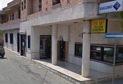 La sede dell'Istituto di credito ad Amorosi
