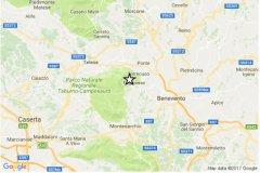 Benevento. Terremoto di magnitudo 2.9 registrato tra Foglianise e Torrecuso (21 marzo 2017)