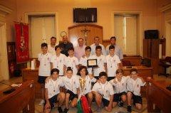 Under 13 ASD Pallamano Benevento ricevuti da Mastella